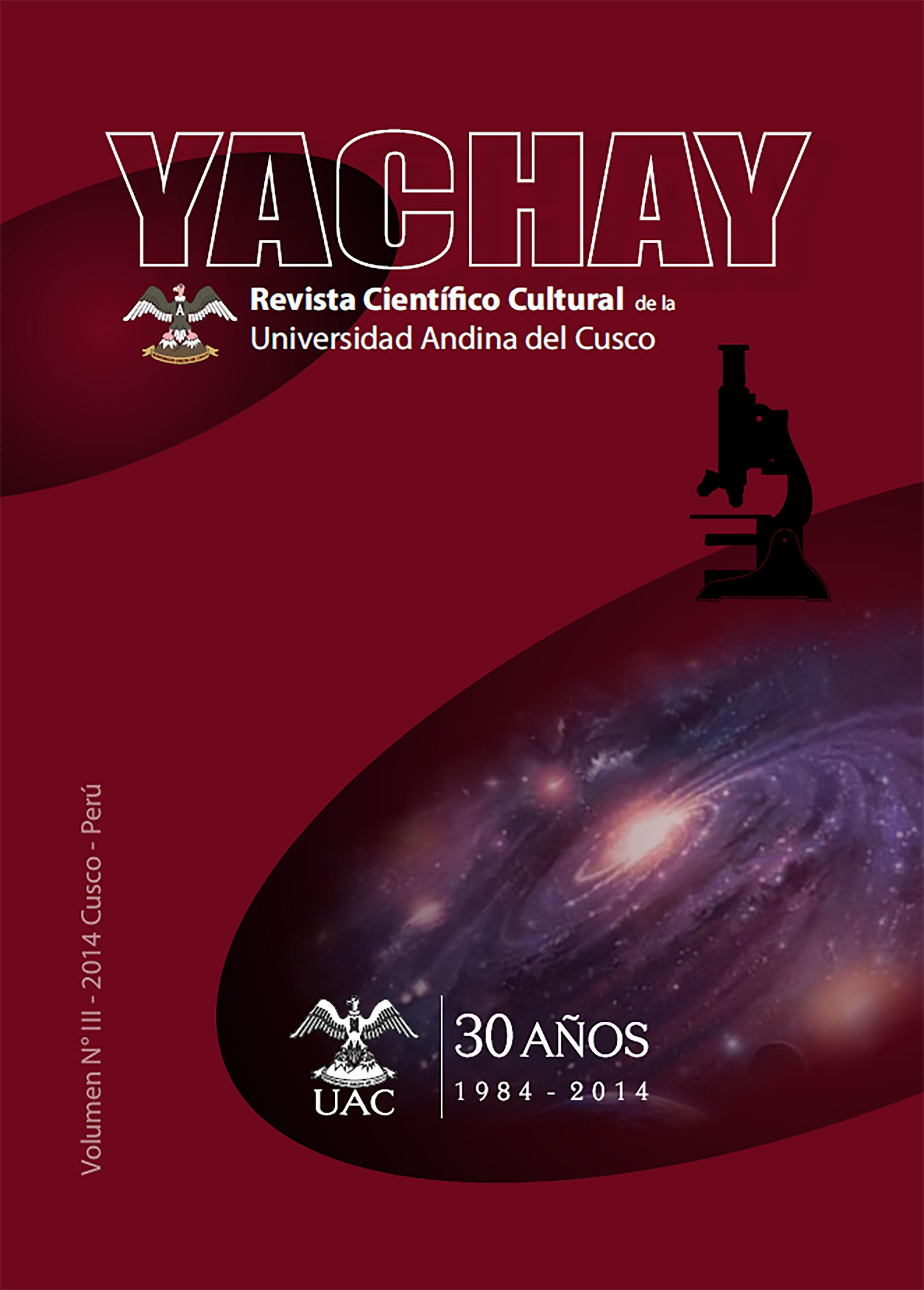 Yachay Revista científico cultural 2014 (publicación retroactiva)