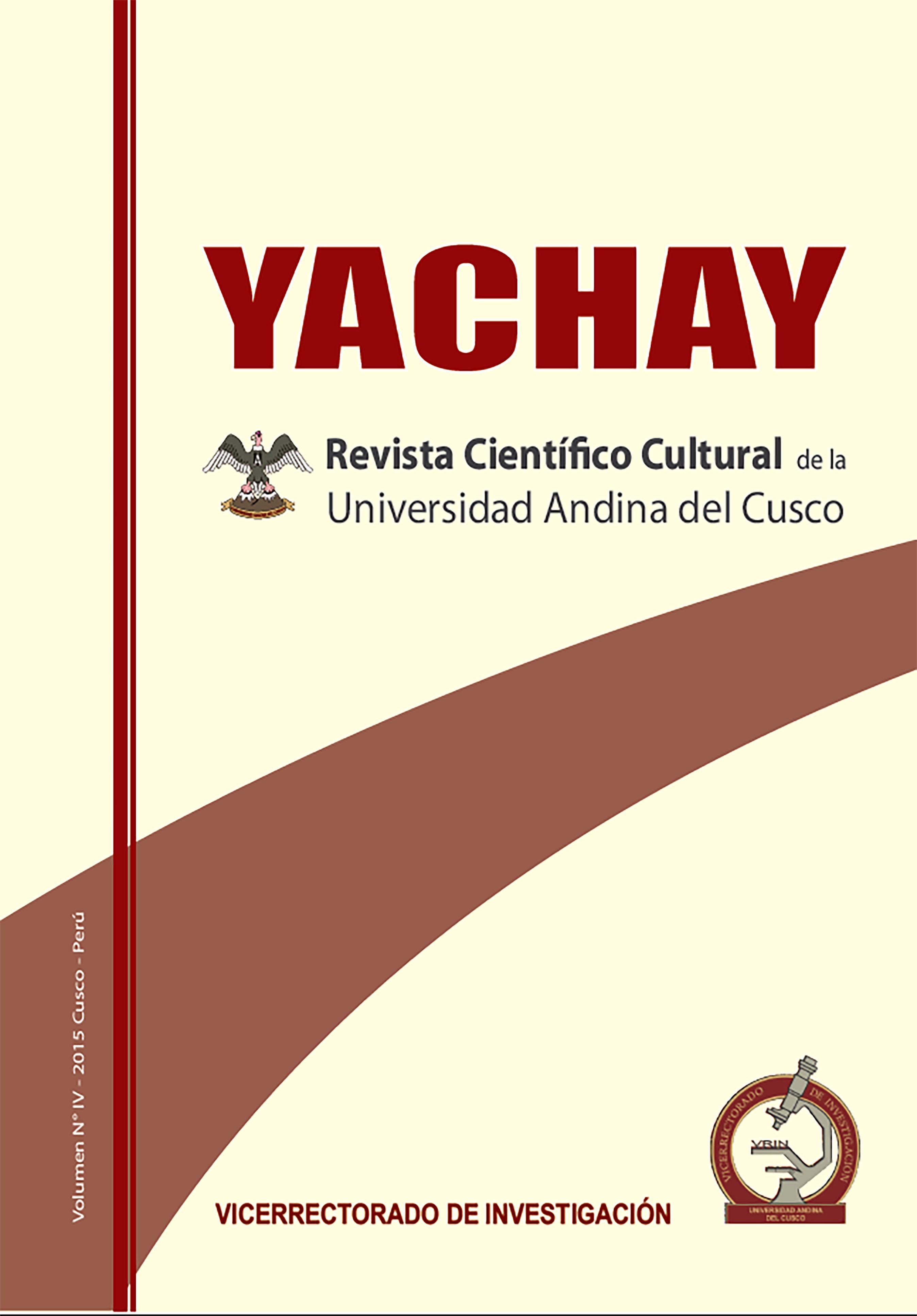 Yachay Revista científico cultural 2015 (publicación retroactiva)