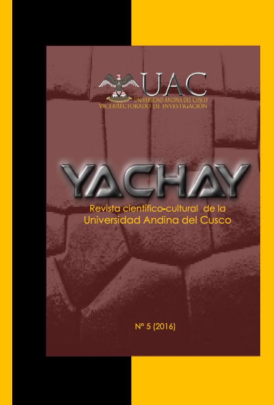 Yachay Revista científico cultural 2016 (publicación retroactiva)
